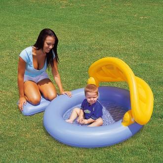 Piscina de beb con sombrilla juguetes - Sombrillas para piscinas ...