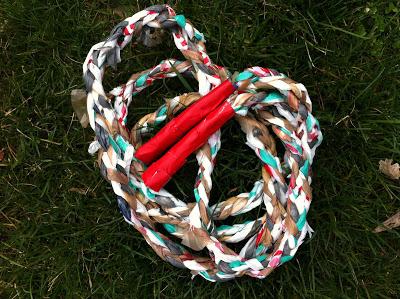 DIY cuerda para saltar a la comba
