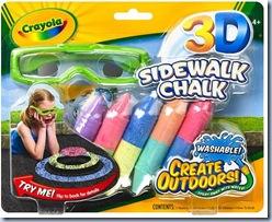 Imágenes 3D en tu acera de la mano de Crayola