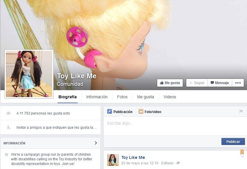 Juguetes con discapacidades Toy like me 1
