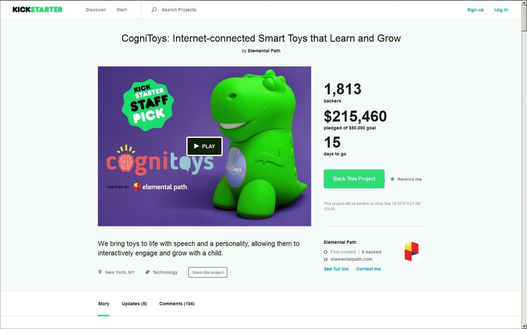 Juguetes inteligentes Cognitoys 2