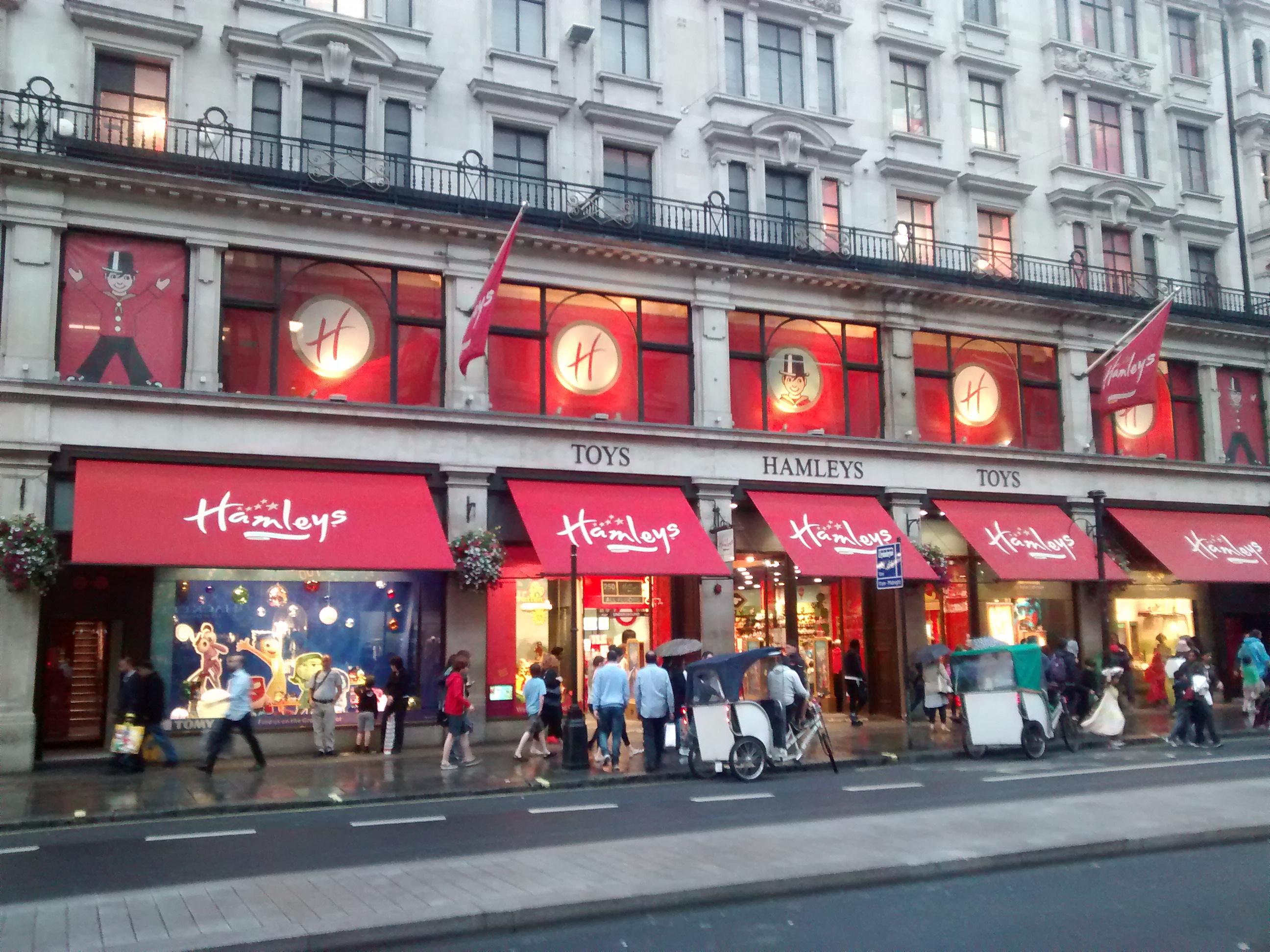 La jugueteria Hamleys llega a España - Fachada Frontal de Londres