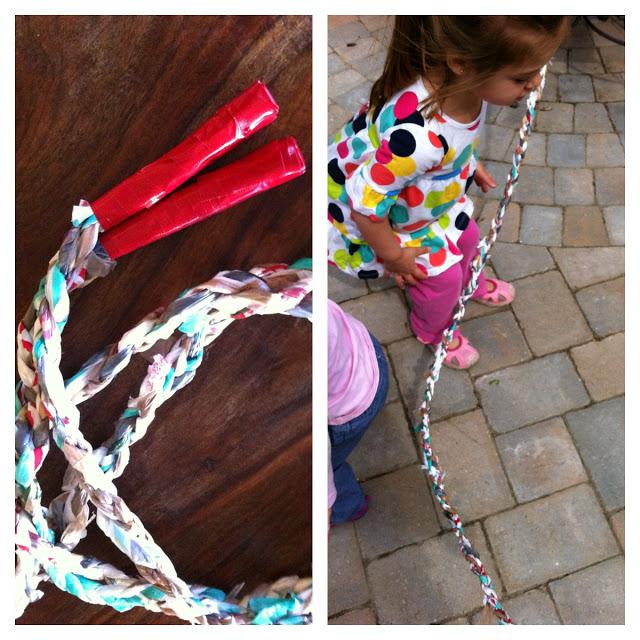 Manualidades infantiles - juguetes para niños - cuerda de saltar hecha a mano
