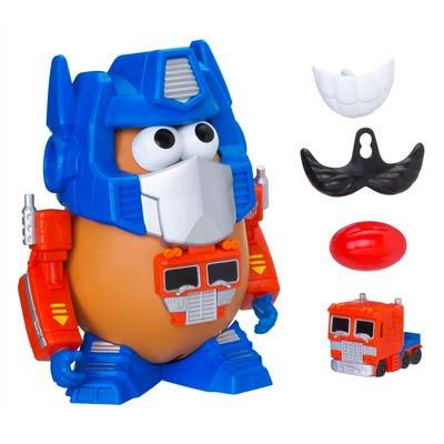 Mr Potato Transformers Optimus Prime detalle