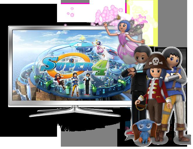Playmobil lanza una serie de juguetes de Super 4 - Super 4 serie de TV