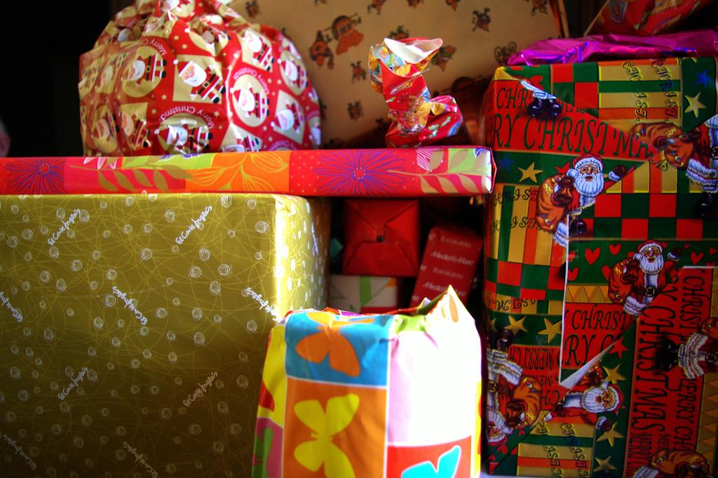 Diferentes regalos para Navidad