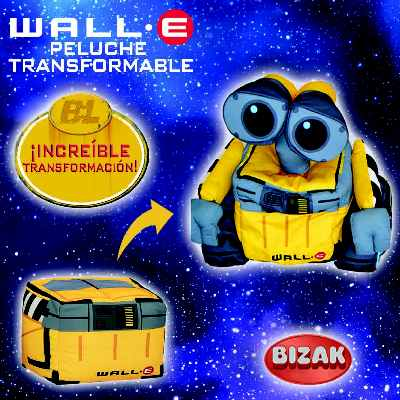 Wall-E Peluche Transformable