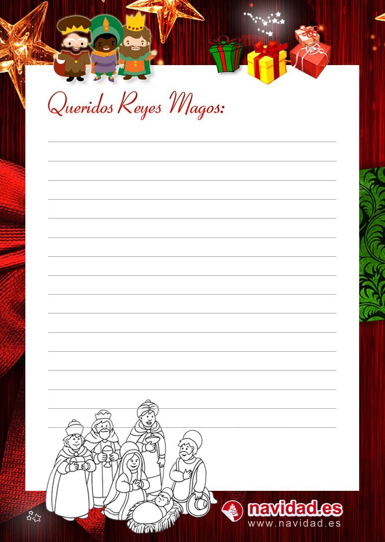 Carta Reyes Magos juguetes