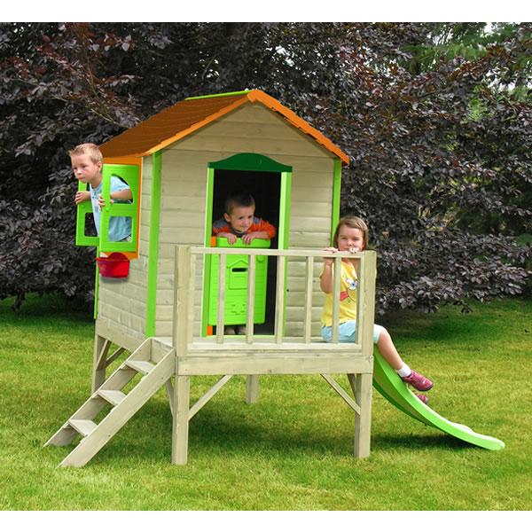 Casita de madera de soulet juguetes for Casa de juguetes para jardin