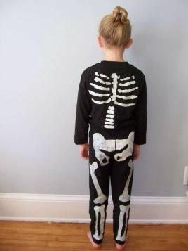 disfraz casero esqueleto