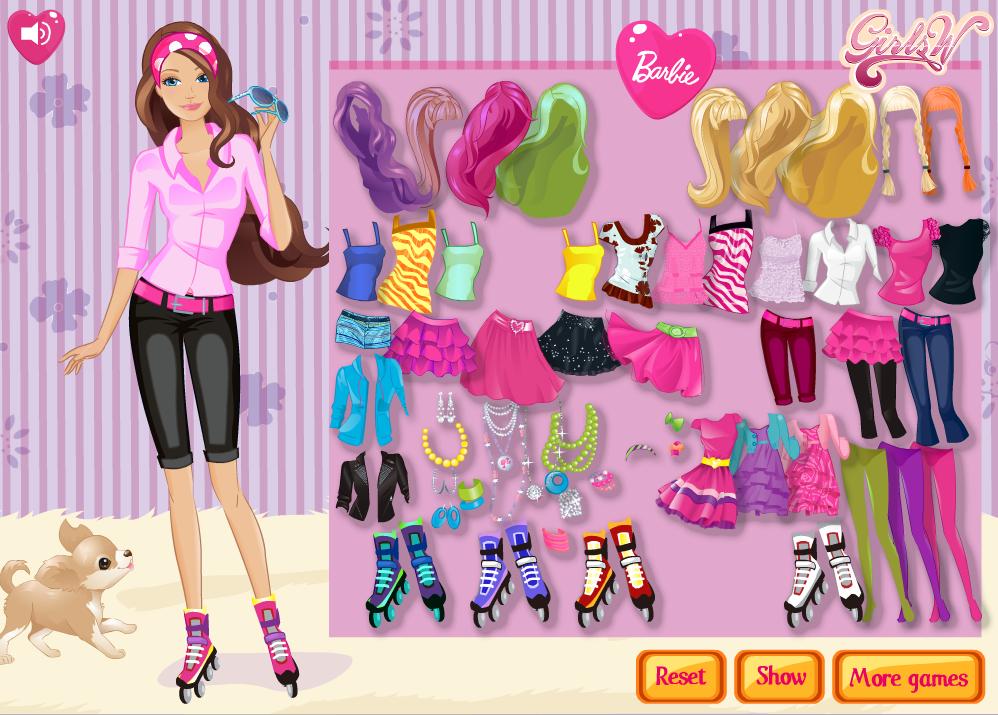 juego -  Barbie on Roller Skates