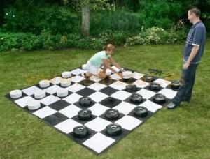 juego damas gigante para jugar al aire libre