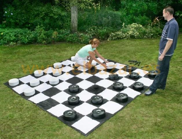 Juego de damas gigante para el jardín - Juguetes