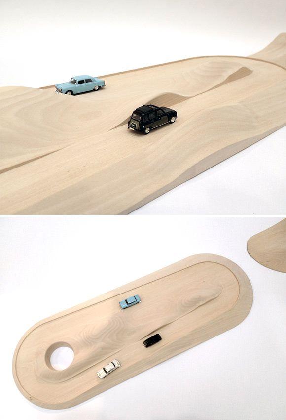 juguete de madera - escalectric de madera