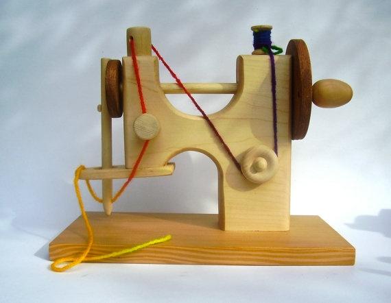juguetes de madera - maquina de coser de madera