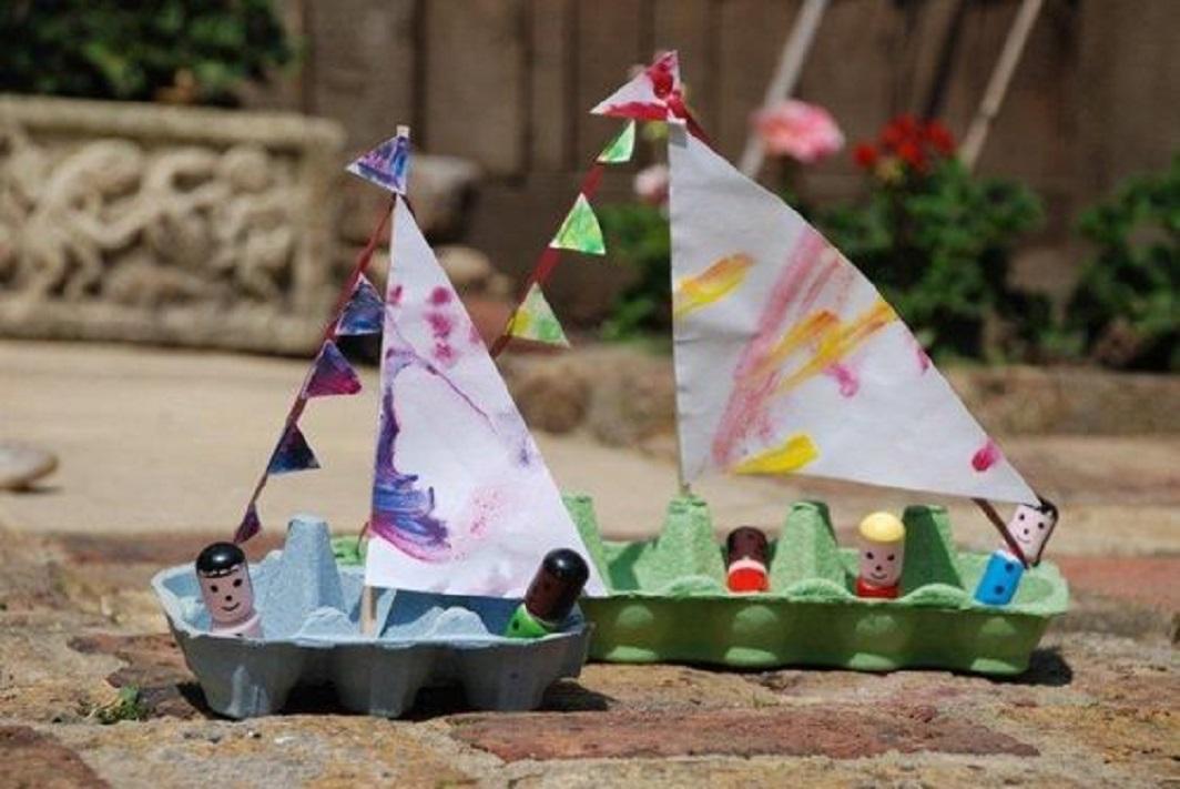 juguetes hechos con cartón de huevo