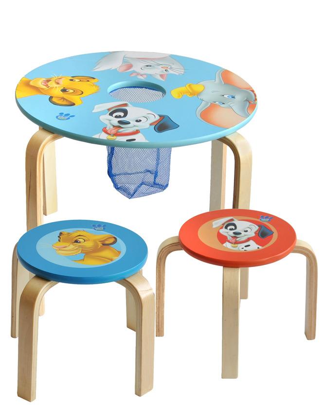 mesa y taburete disney en prenatal