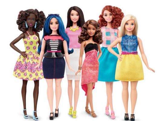 muñeca Barbie - distitnas constitucioens físicas