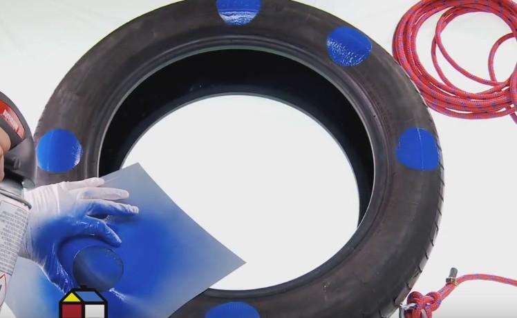 neumático reciclado - personalizar el columpio
