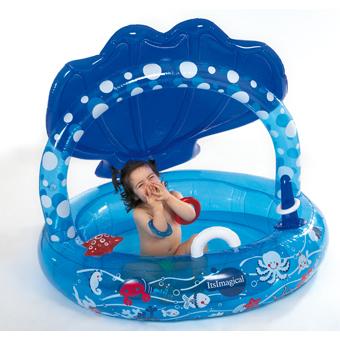 Piscina concha de imaginarium para espacar del sol juguetes for Juguetes de piscina