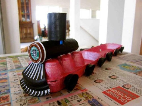tren reciclado