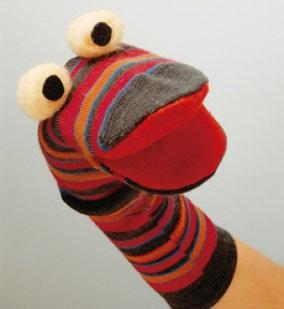 un titere con un calcetin